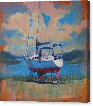 Waiting For The Weekend Canvas Print by Donna Shortt