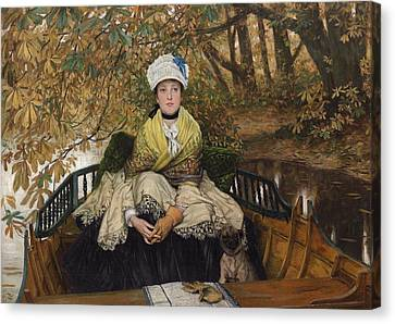 Waiting Canvas Print by James Jacques Joseph Tissot