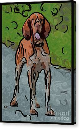 Waiting Patiently Over Here Canvas Print by Omaste Witkowski