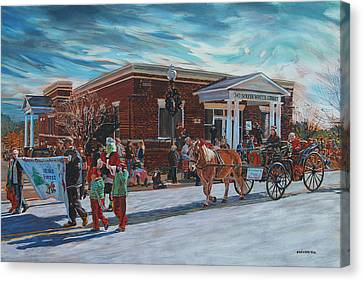 Wake Forest Christmas Parade Canvas Print by Tommy Midyette