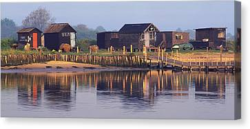 Walberswick Reflections Canvas Print by John Perriment