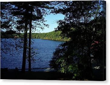 Walden Pond End Of Summer Canvas Print by Lawrence Christopher