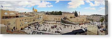 Haram Al Sharif / Temple Mount Panorama - Israel / Palestine Canvas Print by Wietse Michiels