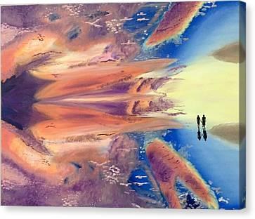 Walk In The Sky  Canvas Print by Damini Gupta