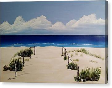 Walk To The Beach Canvas Print by Debbie Chaves Sumrall