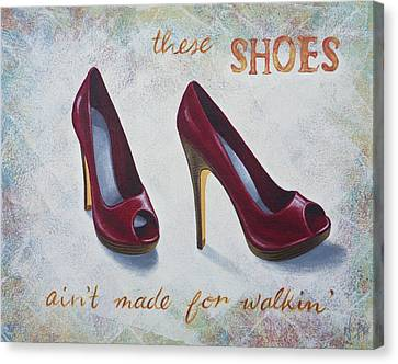 Walkin' Shoes Canvas Print by Nicola Hill