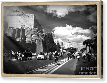 Walking Around The City Of Rome 2 Canvas Print by Stefano Senise