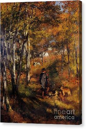 Walking His Dogs Canvas Print by Renoir