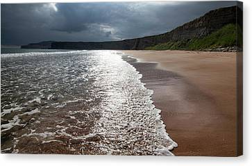 Walking On The Beach Canvas Print by Contemporary Art