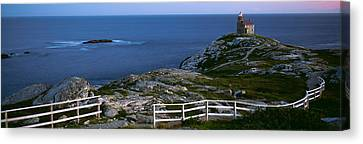 Walking Path And Fence Leading To Rose Canvas Print by Panoramic Images