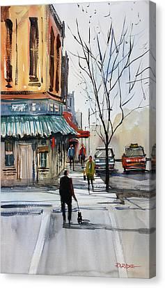 Walking The Dog Canvas Print by Ryan Radke