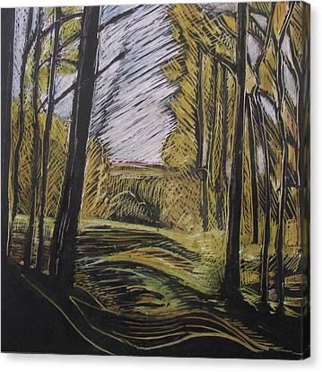 Walking Through Canvas Print by Grace Keown
