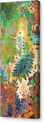 Walking With The Forest Spirits Part 2 Canvas Print by Jennifer Lommers