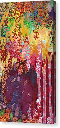 Walking With The Forest Spirits Part 3 Canvas Print by Jennifer Lommers