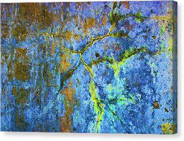 Wall Abstraction I Canvas Print by Dave Gordon