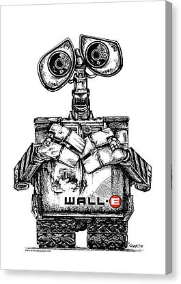 Wall-e Canvas Print by James Sayer