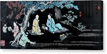 Wall Mural In Qibao - Shanghai - China Canvas Print by Christine Till