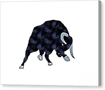 Wall Street Bull Market Series 1 T-shirt Canvas Print by Edward Fielding