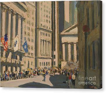 Wall Street Canvas Print by Vladimir Kozma