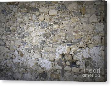 Wall Surface At Kales Fort In Lerapetra Canvas Print by Antony McAulay