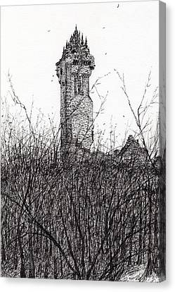 Wallace Monument Canvas Print by Vincent Alexander Booth