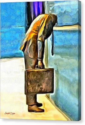 Walled Man - Da Canvas Print by Leonardo Digenio