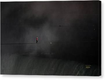 Wallenda Water And Wind Walk Niagara Falls Canvas Print by J R Baldini