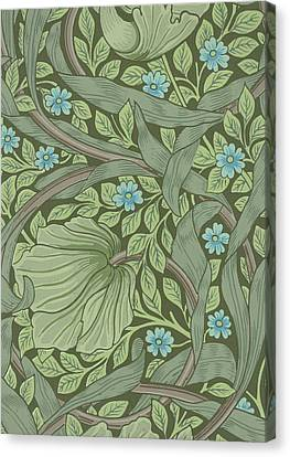 Wallpaper Sample With Forget-me-nots Canvas Print by William Morris