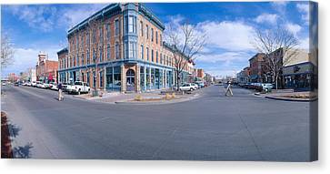 Walnut & Linden Streets, Fort Collins Canvas Print by Panoramic Images