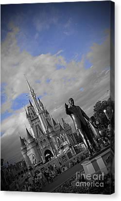Walt Disney World - Partners Statue Canvas Print by AK Photography