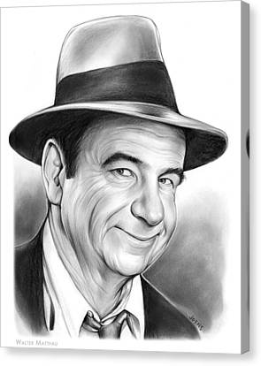 Walter Matthau Canvas Print by Greg Joens