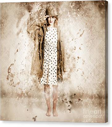War Effort Pin-up Poster Girl Canvas Print by Jorgo Photography - Wall Art Gallery