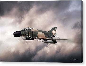 War Horse Scat Xxvii Canvas Print by Peter Chilelli