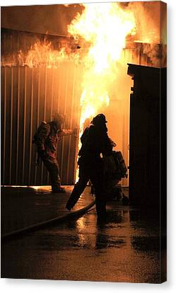 Warehouse Fire Canvas Print by Cary Ulrich