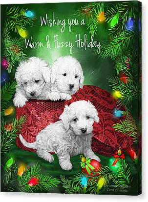 Warm Fuzzy Holiday Canvas Print by Carol Cavalaris