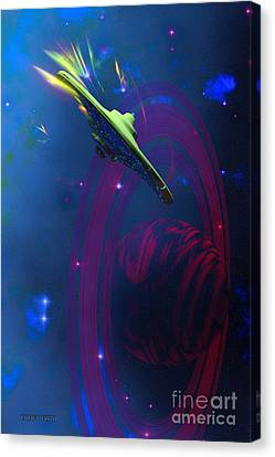 Warp Pulse Canvas Print by Corey Ford