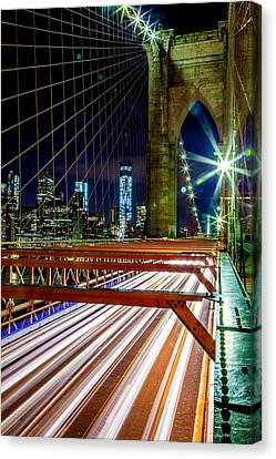 Warp Speed Out Of Manhattan Canvas Print by Az Jackson