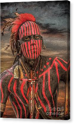 Warpath Shawnee Indian Canvas Print by Randy Steele