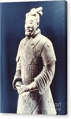 Warrior Of The Terracotta Army Canvas Print by Heiko Koehrer-Wagner