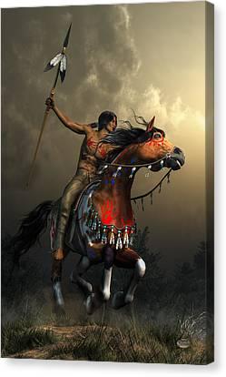Warriors Of The Plains Canvas Print by Daniel Eskridge