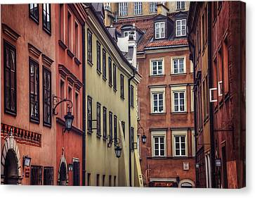 Warsaw Old Town Charm Canvas Print by Carol Japp