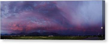 Wasatch Mountain Sunset Canvas Print by La Rae  Roberts