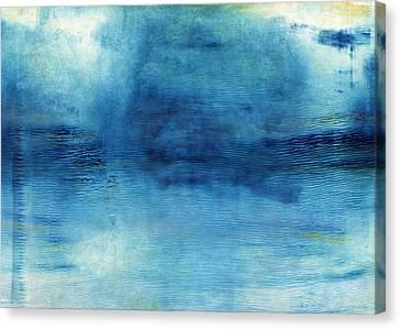 Wash Away- Abstract Art By Linda Woods Canvas Print by Linda Woods