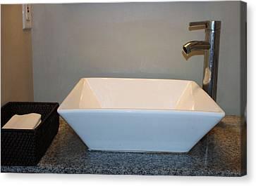 Wash Bowl And Faucet Canvas Print by Cynthia Guinn