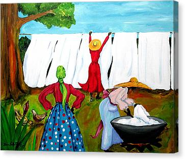 Wash Day Canvas Print by Diane Britton Dunham