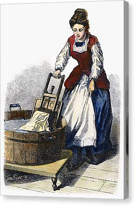 Washboard, 1870 Canvas Print by Granger