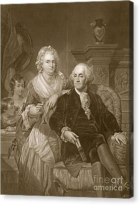 Washington At Home Canvas Print by Alonzo Chappel