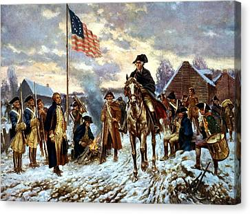 Washington At Valley Forge Canvas Print by War Is Hell Store