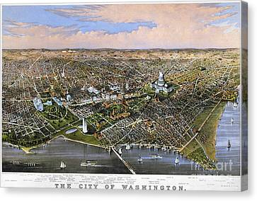 Washington, D.c., 1880 Canvas Print by Granger