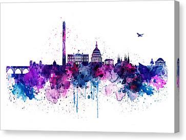 Washington Dc Skyline Canvas Print by Marian Voicu